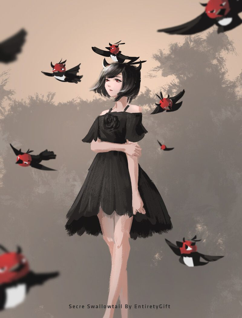 Черный Клевер птица Неро (4)