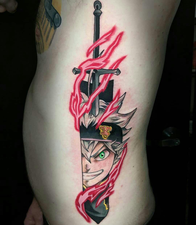 Черный Клевер татуировки в картинках (10)