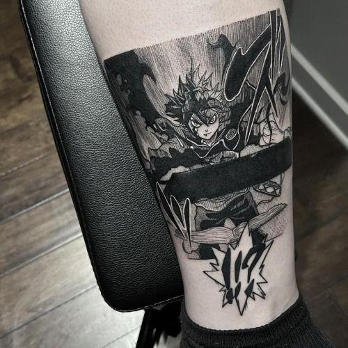 Черный Клевер татуировки в картинках (11)