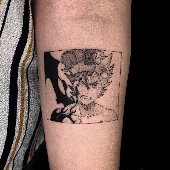 Черный Клевер татуировки в картинках (12)