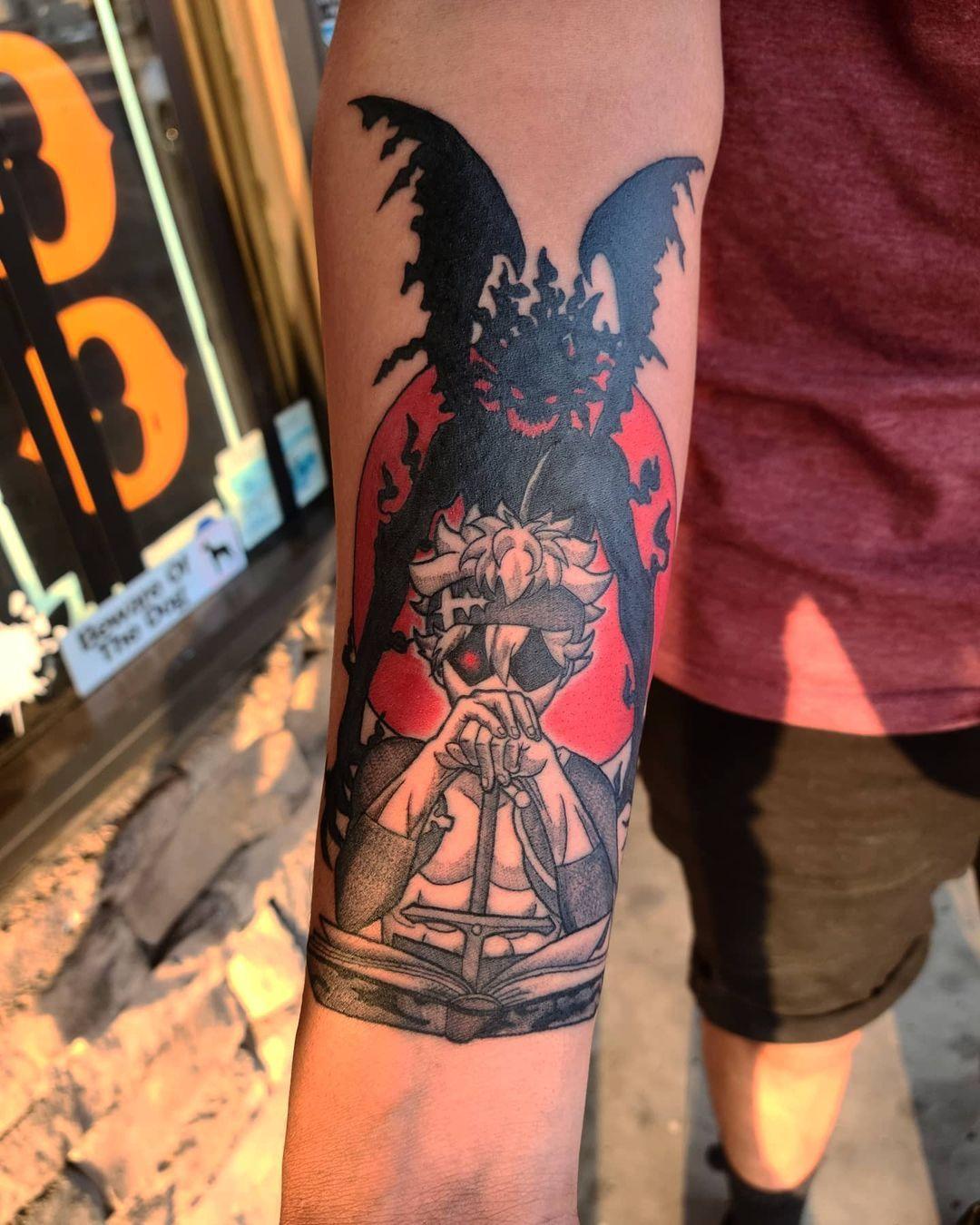 Черный Клевер татуировки в картинках (2)