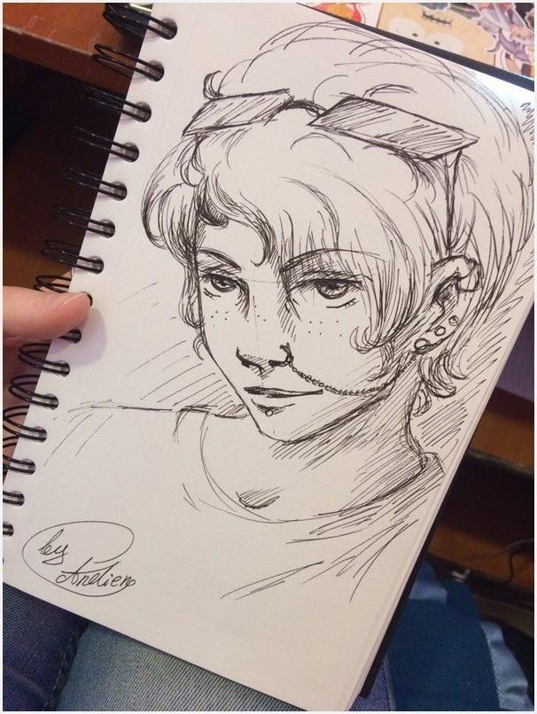 Для практики рисунки для скетчбука в стиле аниме 02
