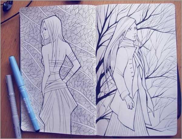 Для практики рисунки для скетчбука в стиле аниме 03