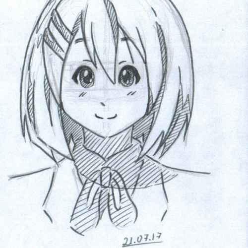 Для практики рисунки для скетчбука в стиле аниме 04