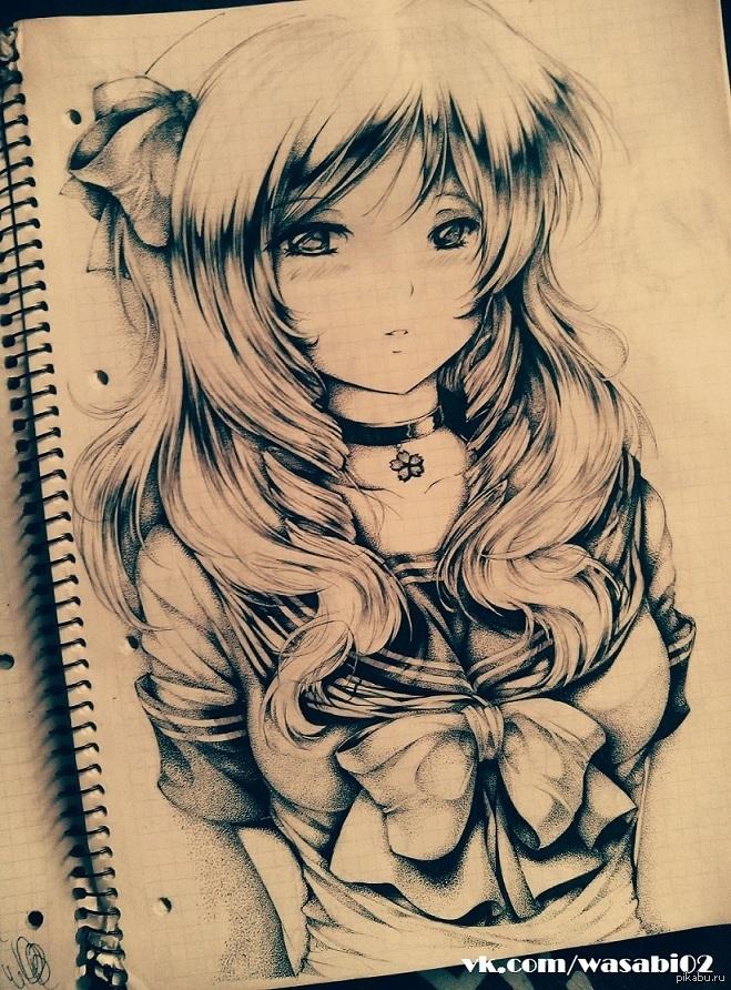 Для практики рисунки для скетчбука в стиле аниме 06