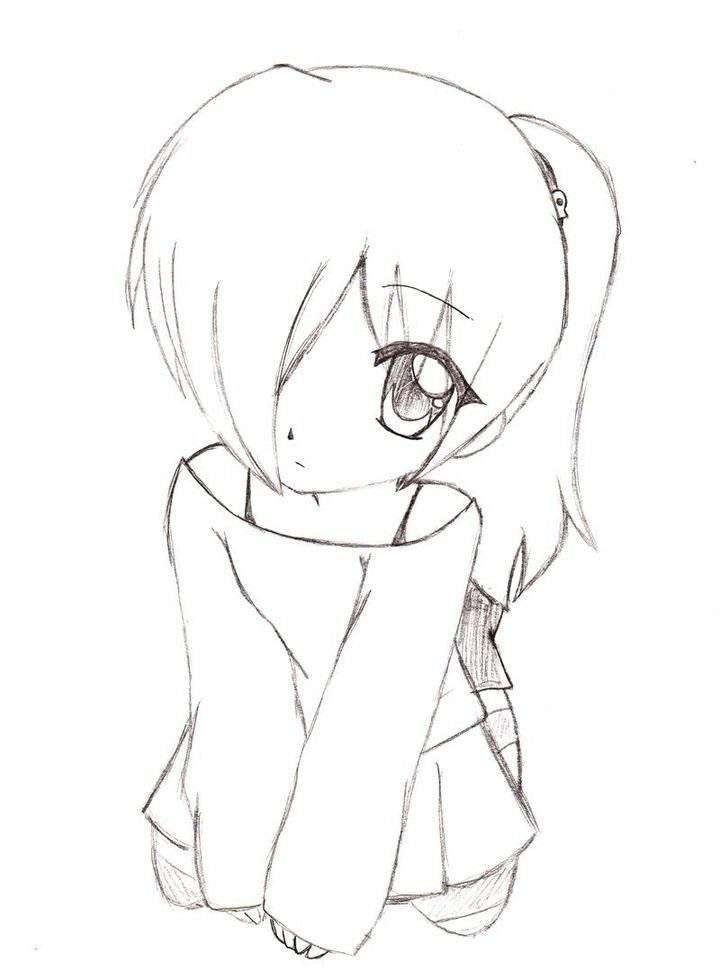 Для практики рисунки для скетчбука в стиле аниме 09