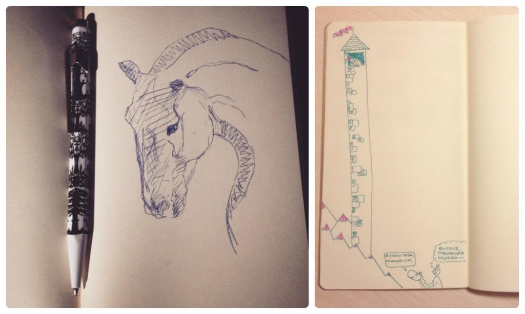 Для практики рисунки для скетчбука в стиле аниме 13