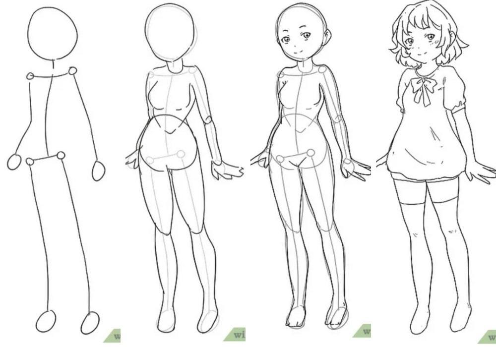 Для практики рисунки для скетчбука в стиле аниме 20