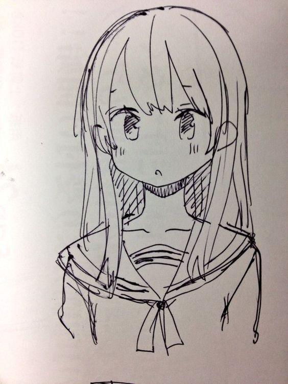 Для практики рисунки для скетчбука в стиле аниме 21
