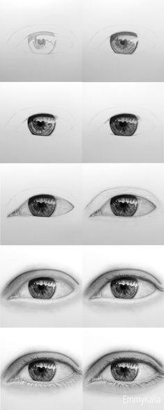 Интересные рисунки глаз аниме, скил улучшен 03