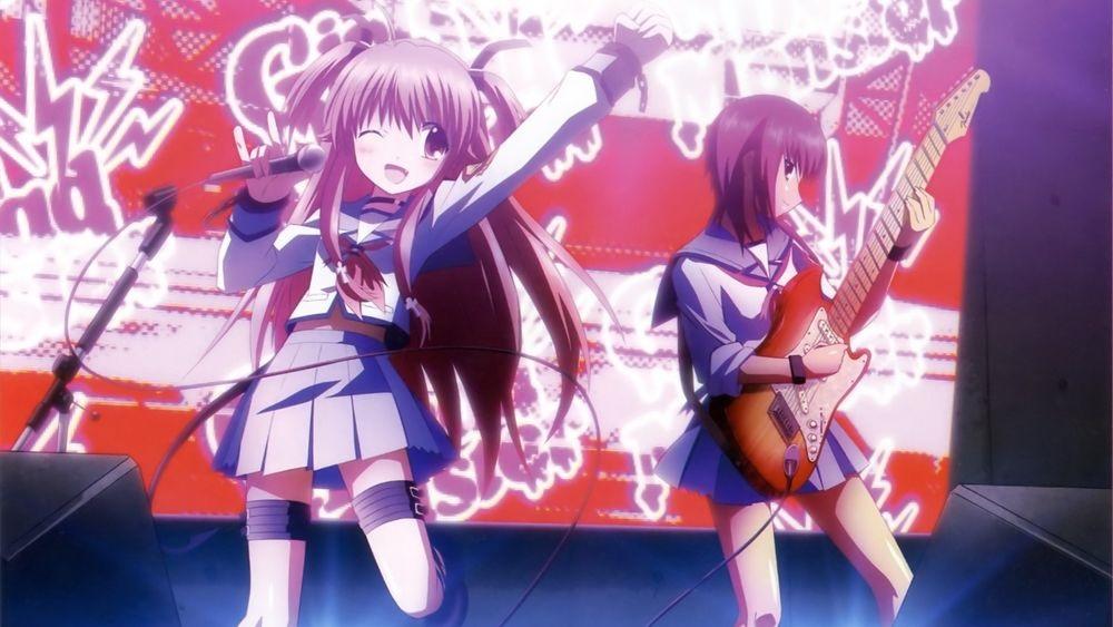 Картинки аниме девушек из ангельские ритмы 16