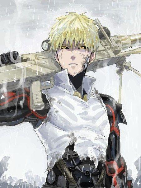 Картинки, рисунок Геноса из аниме Ванпанчмен 02