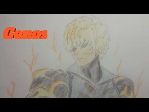 Картинки, рисунок Геноса из аниме Ванпанчмен 14