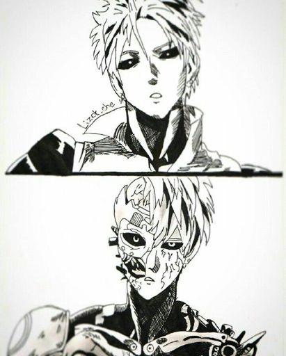 Картинки, рисунок Геноса из аниме Ванпанчмен 18