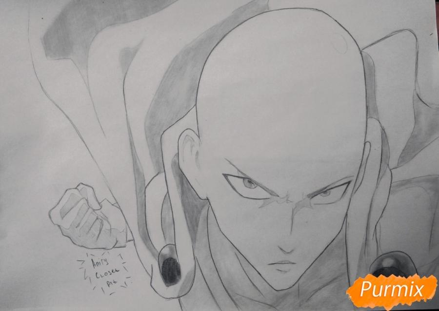 Картинки, рисунок Геноса из аниме Ванпанчмен 19