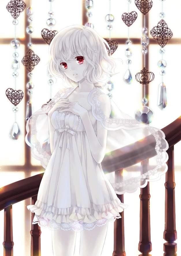 Красивая аниме девушка альбинос 19