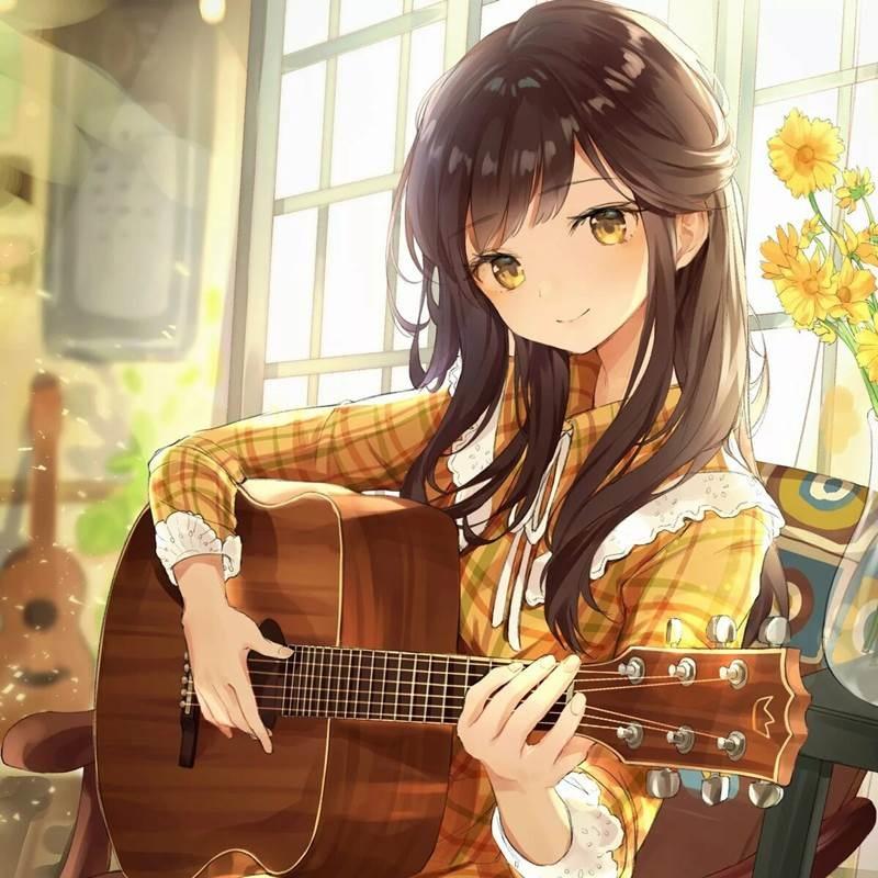 Красивы аниме арты тян, милые картинки 13