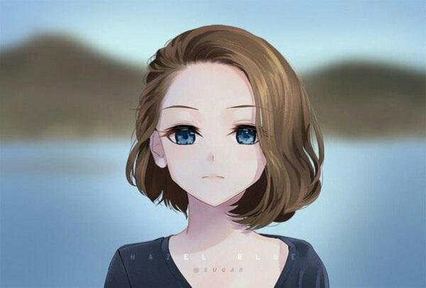 Красивые аниме арты девушек с волосами 03