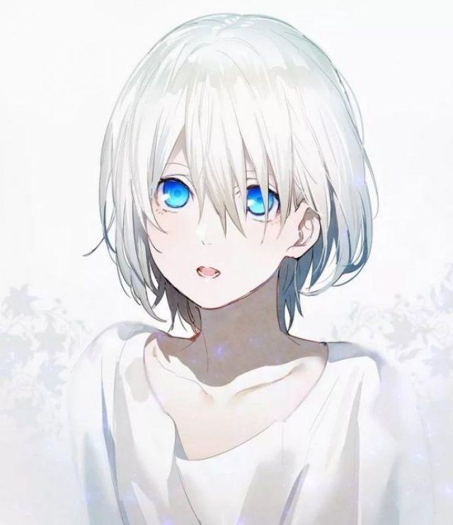 Красивые аниме арты девушек с волосами 19