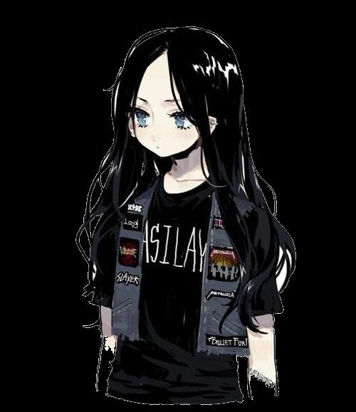 Красивые аниме арты девушек с волосами 22