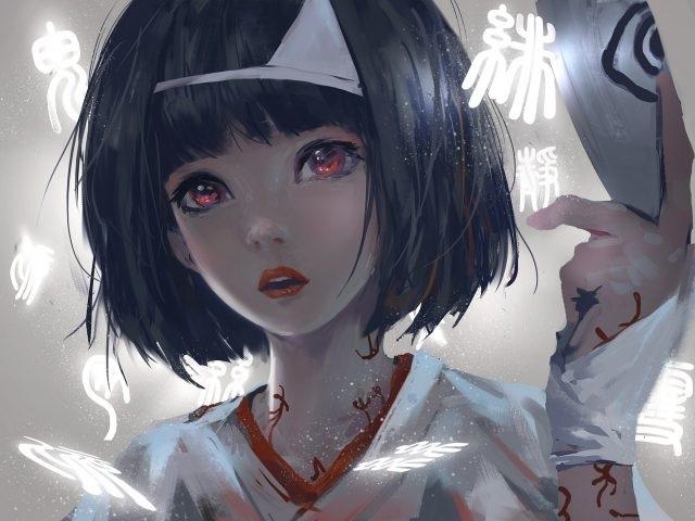 Красивые аниме арты девушек с волосами 24