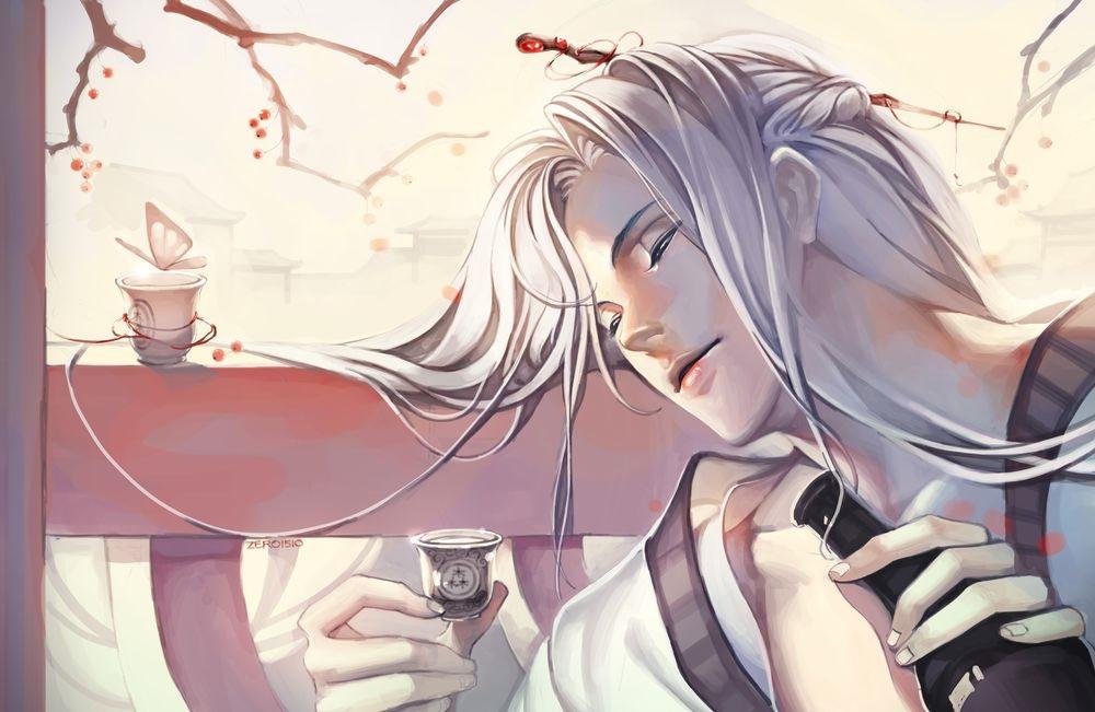 Красивые аниме арты парней с волосами 11