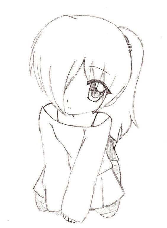 Красивые аниме рисунки для срисовки, легкие и красивые 01
