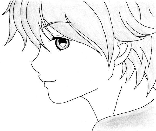 Красивые аниме рисунки для срисовки, легкие и красивые 03