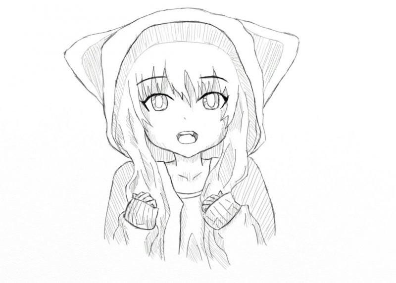 Красивые аниме рисунки для срисовки, легкие и красивые 06