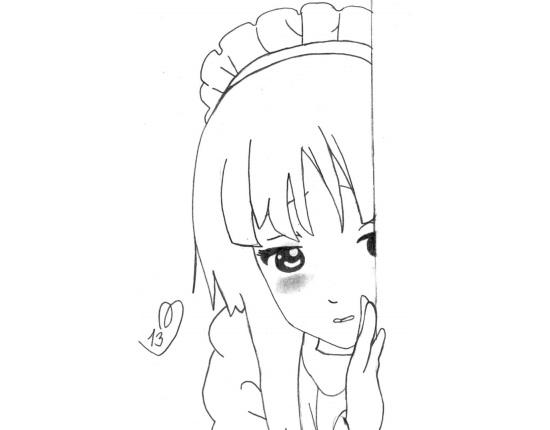 Красивые аниме рисунки для срисовки, легкие и красивые 08