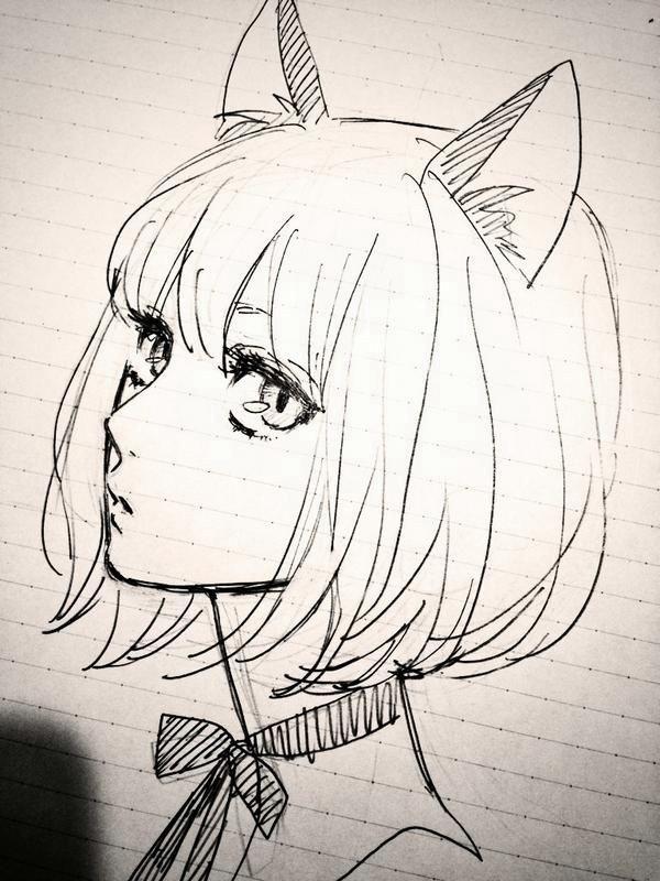 Красивые аниме рисунки для срисовки, легкие и красивые 11