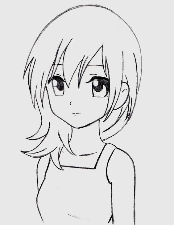 Красивые аниме рисунки для срисовки, легкие и красивые 13