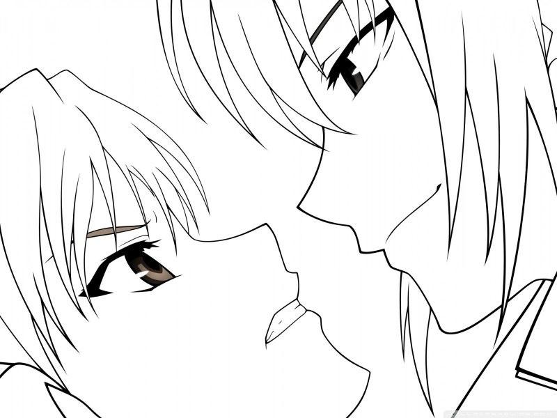 Красивые аниме рисунки для срисовки, легкие и красивые 14