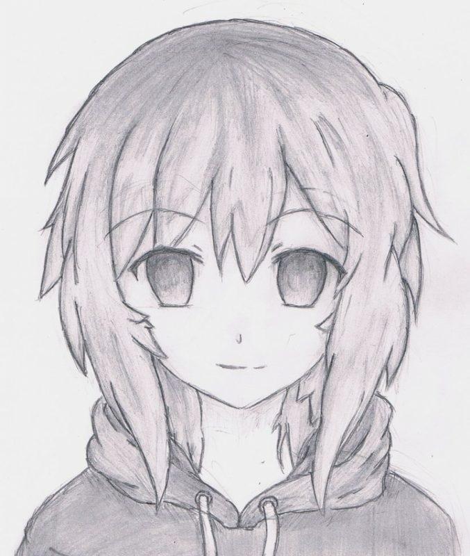 Красивые аниме рисунки для срисовки, легкие и красивые 18