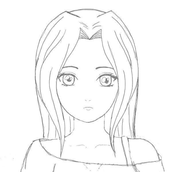 Красивые аниме рисунки для срисовки, легкие и красивые 21