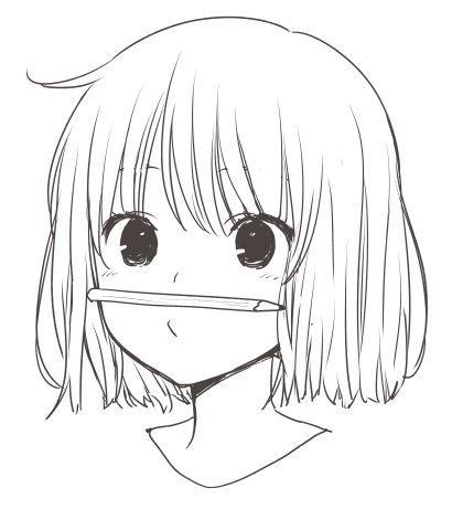 Красивые аниме рисунки для срисовки, легкие и красивые 22