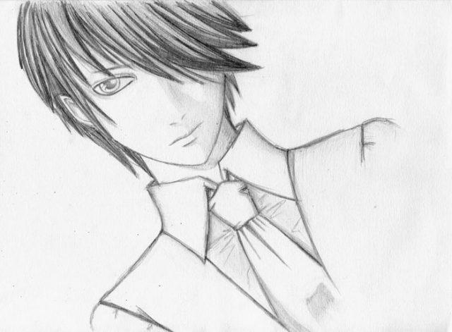 Красивые аниме рисунки для срисовки, легкие и красивые 25