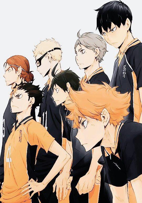 Красивые аниме волейбол обои на телефон 03