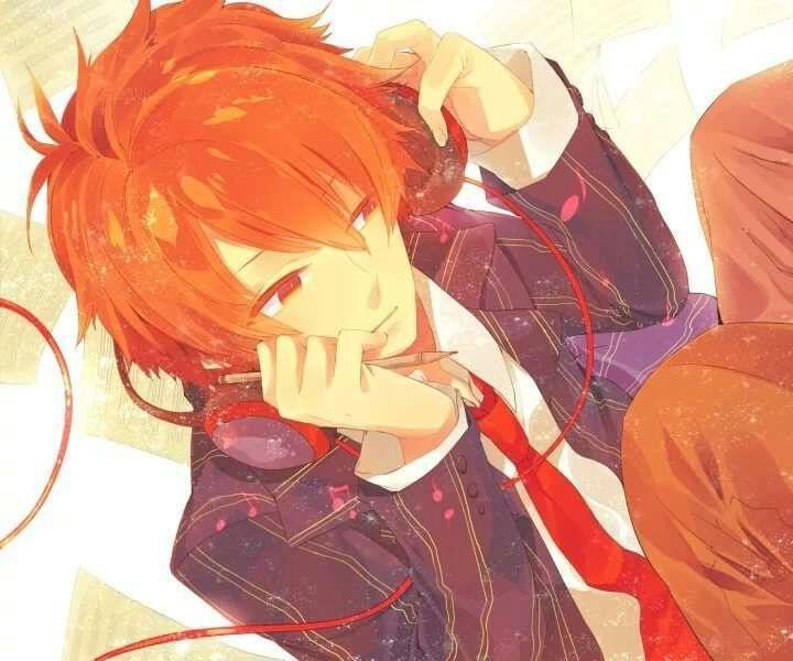 Красивый аниме арт парень с красными волосами 15