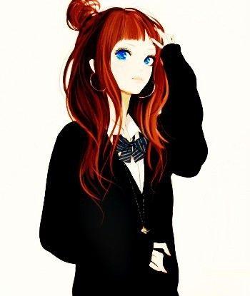 Красивый аниме арт парень с красными волосами 16