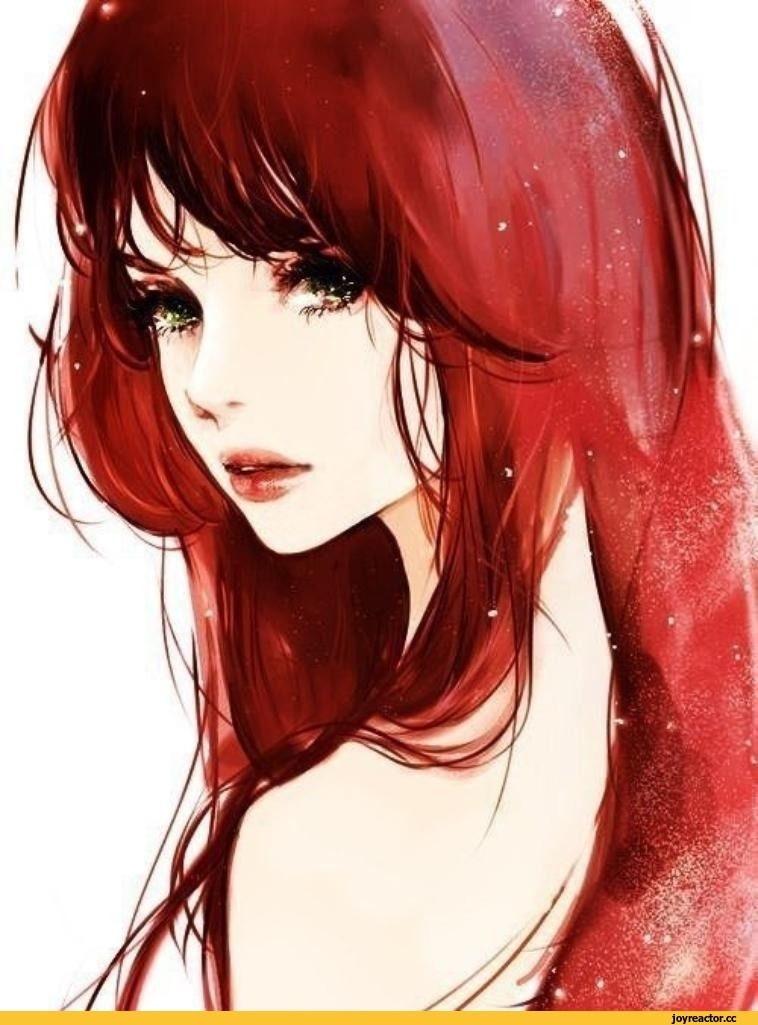 Красивый аниме арт парень с красными волосами 17
