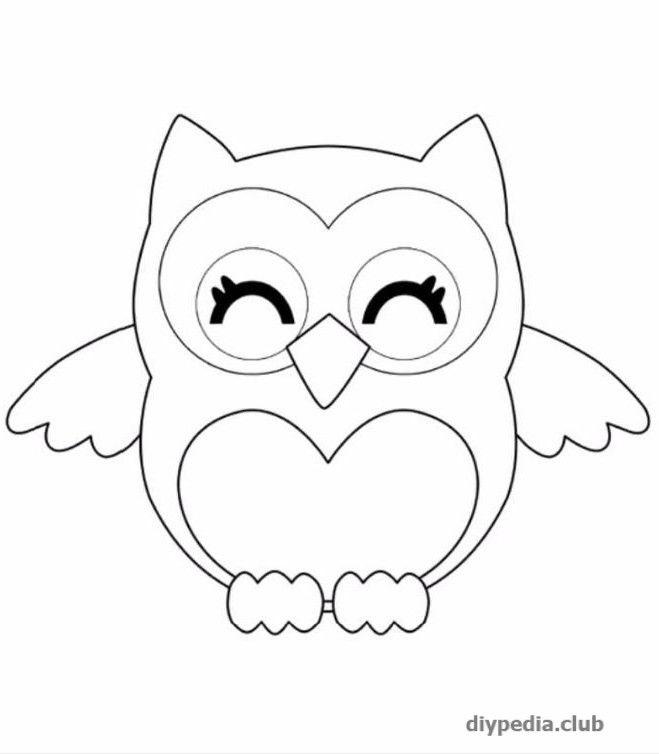 Легкие рисунки совы карандашом, картинки 04