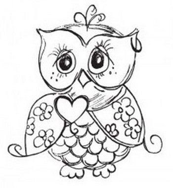 Легкие рисунки совы карандашом, картинки 12