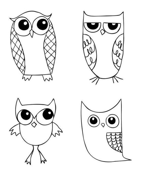 Легкие рисунки совы карандашом, картинки 13