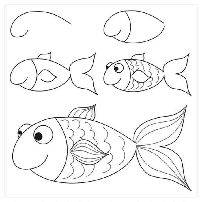 Маленькие рисунки, простые для детей 10