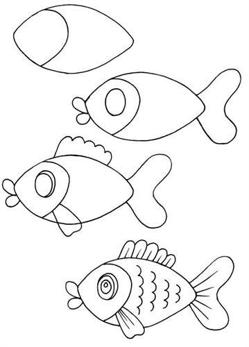 Маленькие рисунки, простые для детей 13