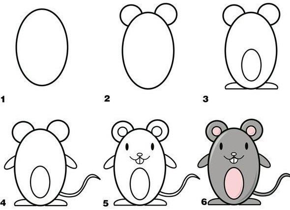 Маленькие рисунки, простые для детей 19