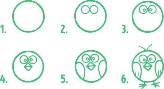 Маленькие рисунки, простые для детей 23