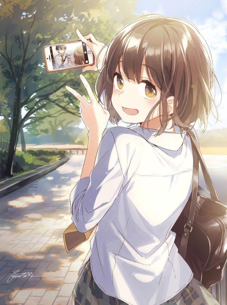 Милые аниме девушка тян на аву 11