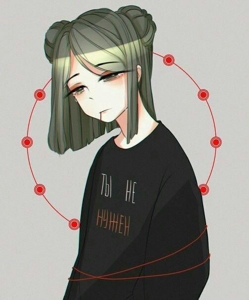 Очень грустные аниме арты парней, картинки 06